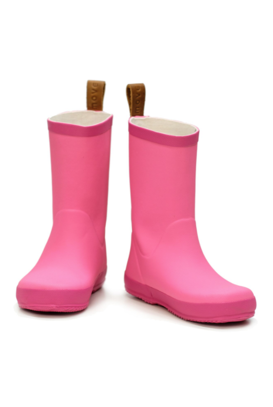 Pink girls wellie boot by move melton
