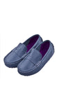 Navy Blue Boys Penny Leather Loafers Shoes Boys Boutique at Kids Emporium by Lazy Francis - Shop in store at 406 Kings Road, Chelsea, London or shop online at www.kidsemporiumonline.com