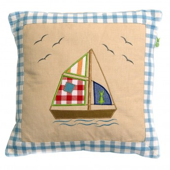 Beach House Cushion Cover - Win Green Interior Win Green at Kids Emporium by Lazy Francis - Shop in store at 406 Kings Road, Chelsea, London or shop online at www.kidsemporiumonline.com