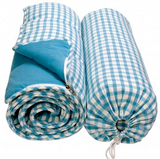 Sky Blue Gingham Sleeping Bag - Win Green Interior Win Green at Kids Emporium by Lazy Francis - Shop in store at 406 Kings Road, Chelsea, London or shop online at www.kidsemporiumonline.com