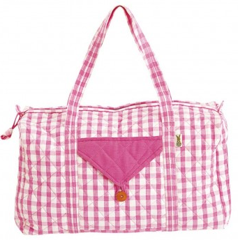 Candy Pink Gingham Weekender Bag - Win Green ACCESSORIES Win Green at Kids Emporium by Lazy Francis - Shop in store at 406 Kings Road, Chelsea, London or shop online at www.kidsemporiumonline.com