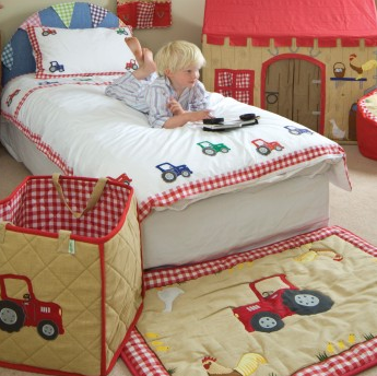 Barn Duvet Set - Win Green Interior Win Green at Kids Emporium by Lazy Francis - Shop in store at 406 Kings Road, Chelsea, London or shop online at www.kidsemporiumonline.com