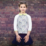 Twiggy Navy and Pink Girls Blouse Blouse JAM London at Kids Emporium by Lazy Francis - Shop in store at 406 Kings Road, Chelsea, London or shop online at www.kidsemporiumonline.com