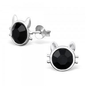 Cat Sterling Silver Ear Stud ACCESSORIES Mainly Silver at Kids Emporium by Lazy Francis - Shop in store at 406 Kings Road, Chelsea, London or shop online at www.kidsemporiumonline.com