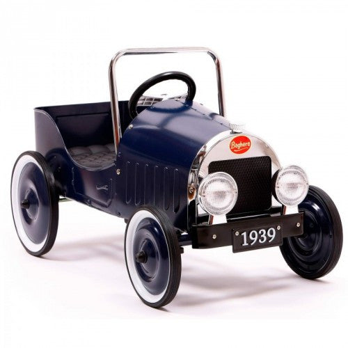 Classic Blue Pedal Car Car Baghera at Kids Emporium by Lazy Francis - Shop in store at 406 Kings Road, Chelsea, London or shop online at www.kidsemporiumonline.com