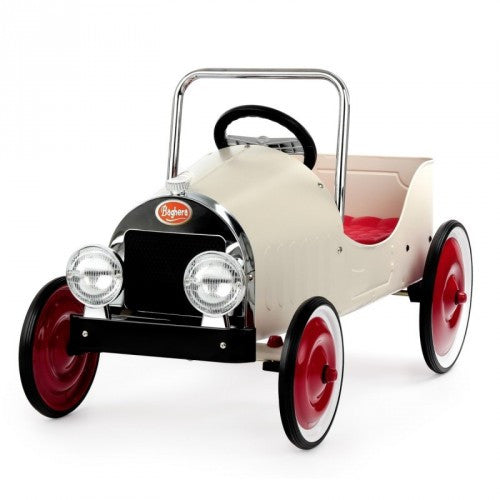 Classic White Car Baghera at Kids Emporium by Lazy Francis - Shop in store at 406 Kings Road, Chelsea, London or shop online at www.kidsemporiumonline.com