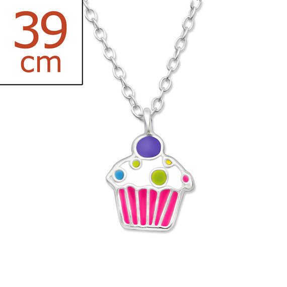 Cupcake Sterling Silver Necklace ACCESSORIES Mainly Silver at Kids Emporium by Lazy Francis - Shop in store at 406 Kings Road, Chelsea, London or shop online at www.kidsemporiumonline.com