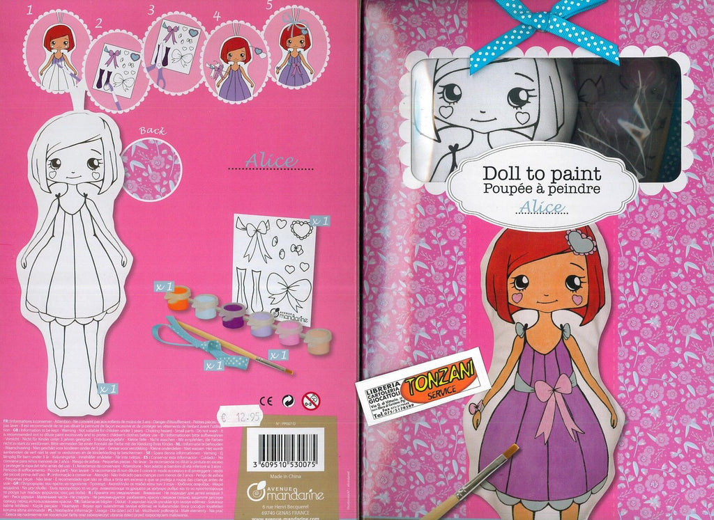 Doll to Paint Alice Toys Little Concepts at Kids Emporium by Lazy Francis - Shop in store at 406 Kings Road, Chelsea, London or shop online at www.kidsemporiumonline.com