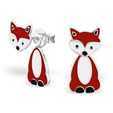 Fox Sterling Silver Earrings ACCESSORIES Mainly Silver at Kids Emporium by Lazy Francis - Shop in store at 406 Kings Road, Chelsea, London or shop online at www.kidsemporiumonline.com