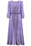 Purple Maxi Mummy Dress - LAZY FRANCIS - Shop in store at 406 Kings Road, Chelsea, London or shop online at www.lazyfrancis.com
