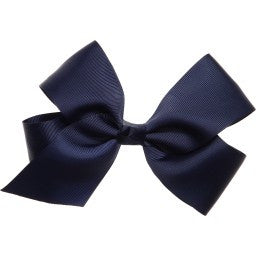 Navy Blue Bow Hair Tie - Bowtique ACCESSORIES Bowtique at Kids Emporium by Lazy Francis - Shop in store at 406 Kings Road, Chelsea, London or shop online at www.kidsemporiumonline.com