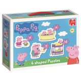Peppa Pig 4 Shaped Puzzles Jumbo Toys Peppa Pig at Kids Emporium by Lazy Francis - Shop in store at 406 Kings Road, Chelsea, London or shop online at www.kidsemporiumonline.com