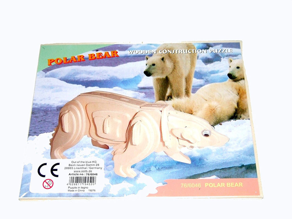 Polar Bear Wooden Puzzles Toys, puzzles Out of the blue at Kids Emporium by Lazy Francis - Shop in store at 406 Kings Road, Chelsea, London or shop online at www.kidsemporiumonline.com
