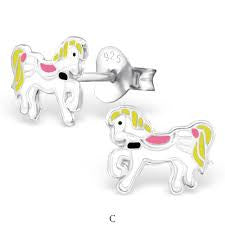 Pony Sterling Silver Studs ACCESSORIES Mainly Silver at Kids Emporium by Lazy Francis - Shop in store at 406 Kings Road, Chelsea, London or shop online at www.kidsemporiumonline.com