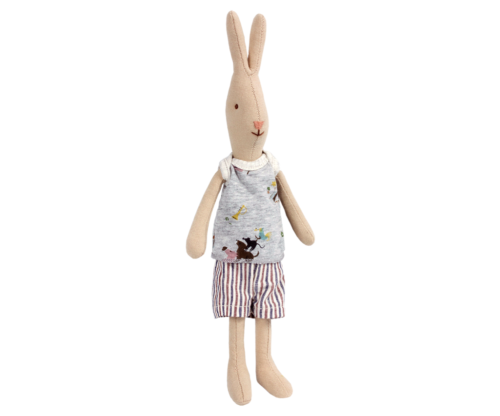 Mini Rabbit Boy Toys Maileg at Kids Emporium by Lazy Francis - Shop in store at 406 Kings Road, Chelsea, London or shop online at www.kidsemporiumonline.com