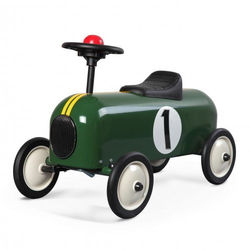 Racer Green Car Baghera at Kids Emporium by Lazy Francis - Shop in store at 406 Kings Road, Chelsea, London or shop online at www.kidsemporiumonline.com