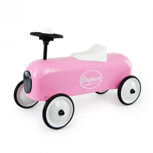 Racer Pink Car Baghera at Kids Emporium by Lazy Francis - Shop in store at 406 Kings Road, Chelsea, London or shop online at www.kidsemporiumonline.com