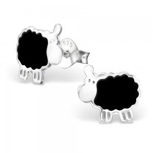 Black Sheep Sterling Silver Ear Studs Jewellery Mainly Silver at Kids Emporium by Lazy Francis - Shop in store at 406 Kings Road, Chelsea, London or shop online at www.kidsemporiumonline.com