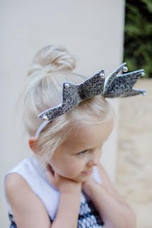 Handmade Reversible Black & White Crown Headband with Lace Layer and Light Sparkly Silver Stones by Lazy Francis Front sale