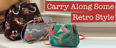 Carry Along Some Retro Style- Purses in Hoffman Fabrics