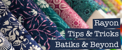 LIVE Video- Rayon Tips & Tricks for Sewing