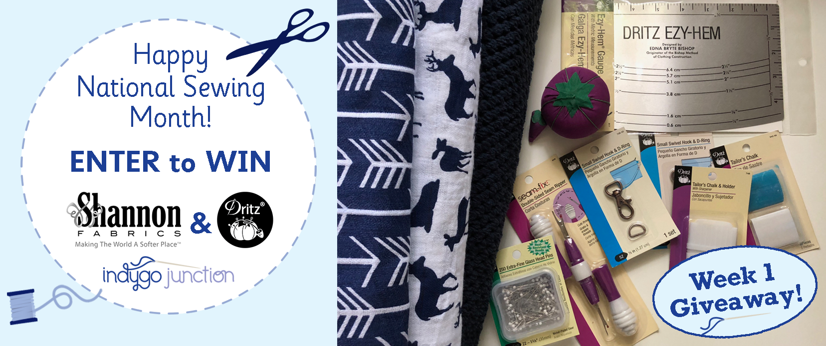 Win Shannon Fabrics Dritz Giveaway Indygojunction