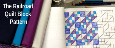 The Railroad Quilt Block- A FREE Pattern!