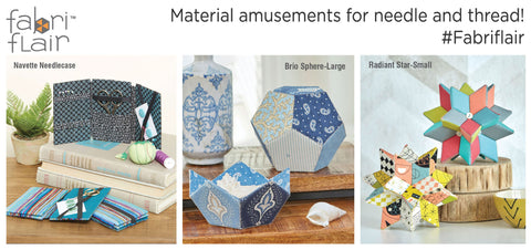 Fabriflair is Indygo Junction's line of dimensional paper piecing kits!