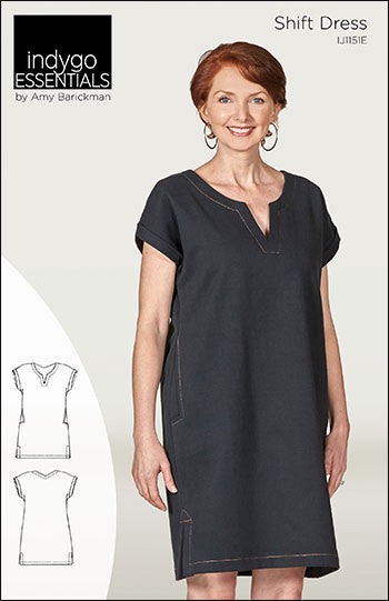 Indygo Essentials Shift Dress Pattern