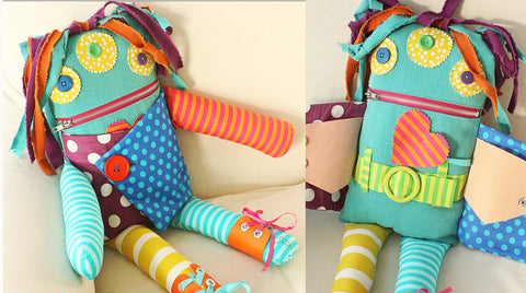 Indygo Junction Dress Myself Monster Doll pattern