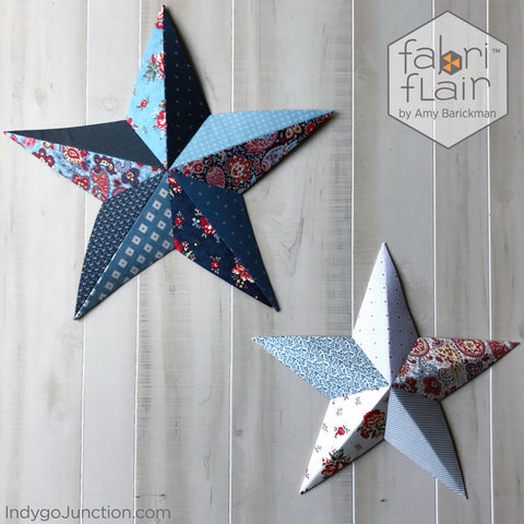 Wall art star pattern