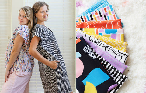 Indygo Junction patterns and Abstract Collage fabrics