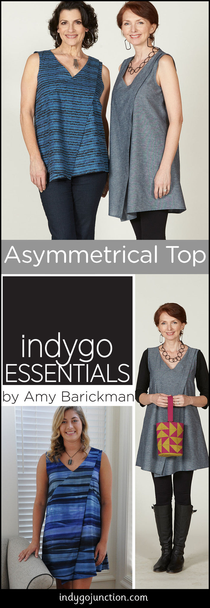 Indygo Essentials Asymmetrical Top and Tunic Pattern!