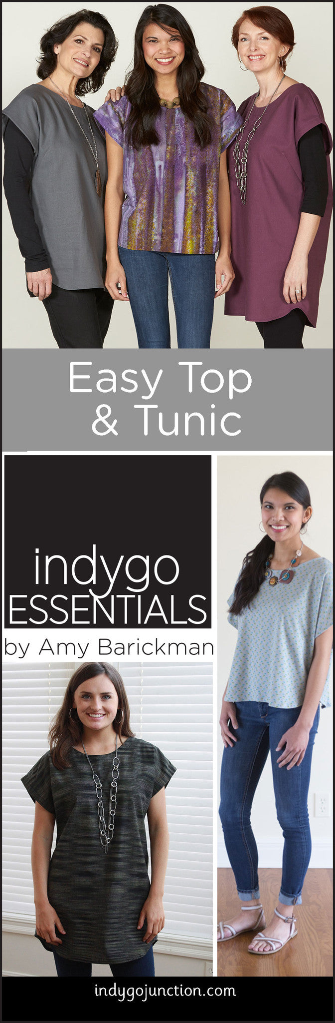 Indygo Essentials Easy Top and Tunic is a great go-to shirt pattern!