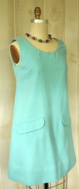 The Abigail Dress made in Crossroads Denim Soft Aqua