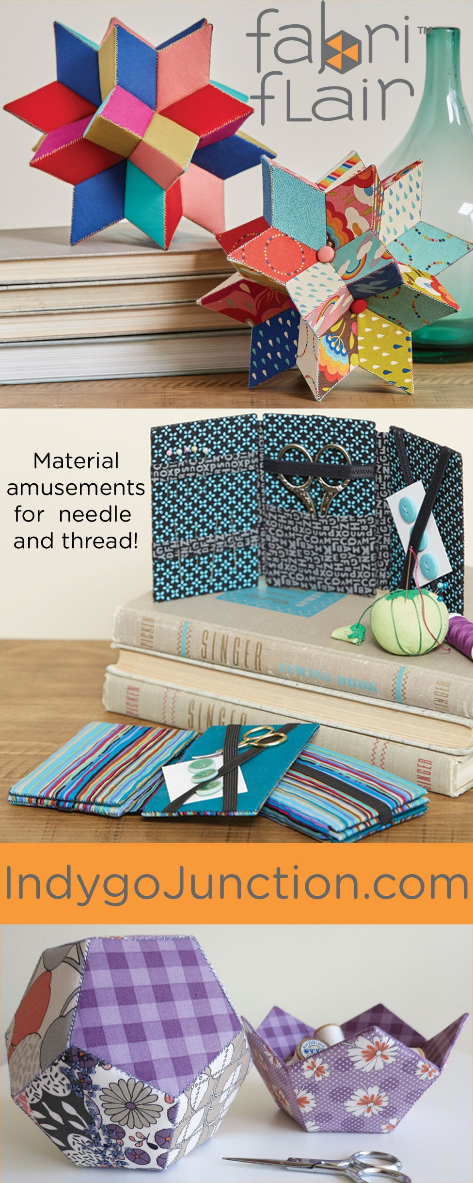 Dimensional Paper Piecing: Eye candy for fabric lovers!