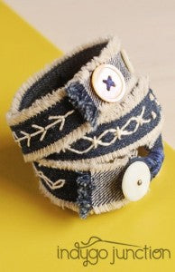 Indygo Junction's Stitched Style Gypsy Wrap Bracelet
