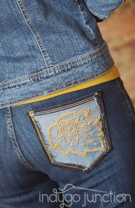 Indygo Junction's Stitched Style Pocket full o' Sunshine jeans