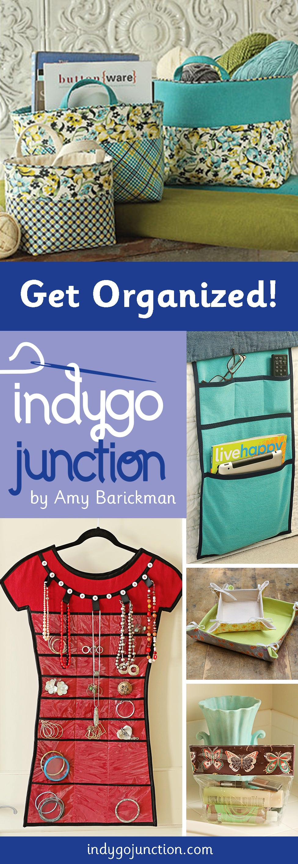 Get Organized beautifully with Indygo Junction's great round up of home organization patterns!