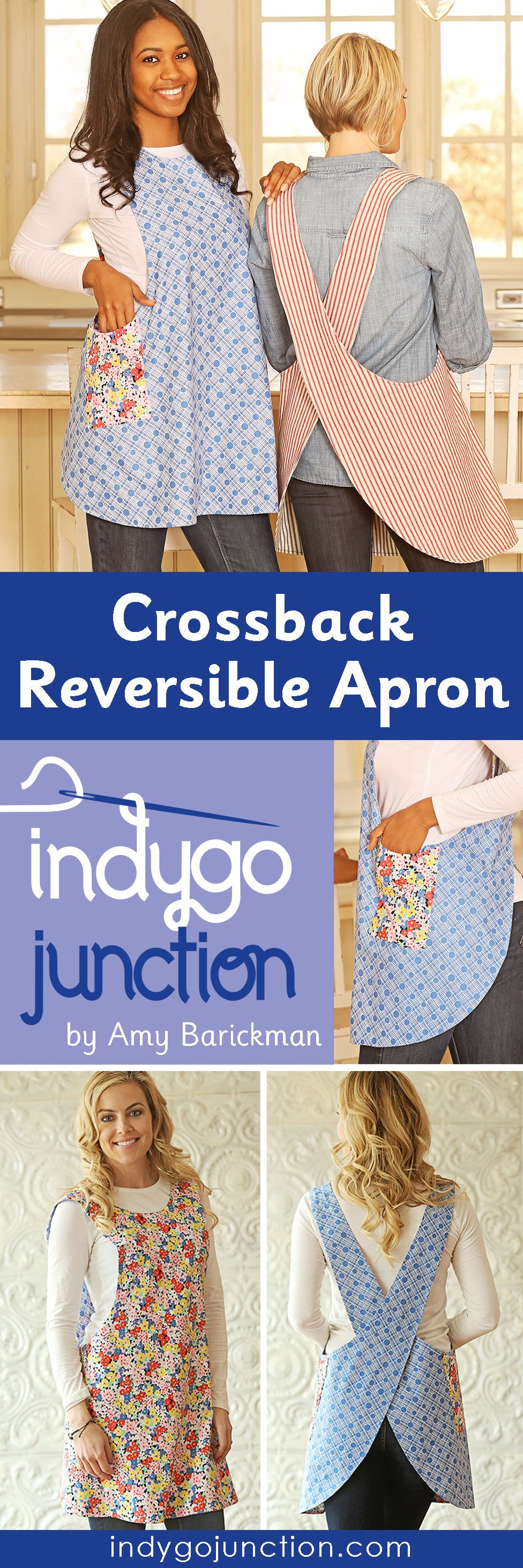 Indygo Junction's Reversible Crossback Apron pattern is a favorite for very good reasons!