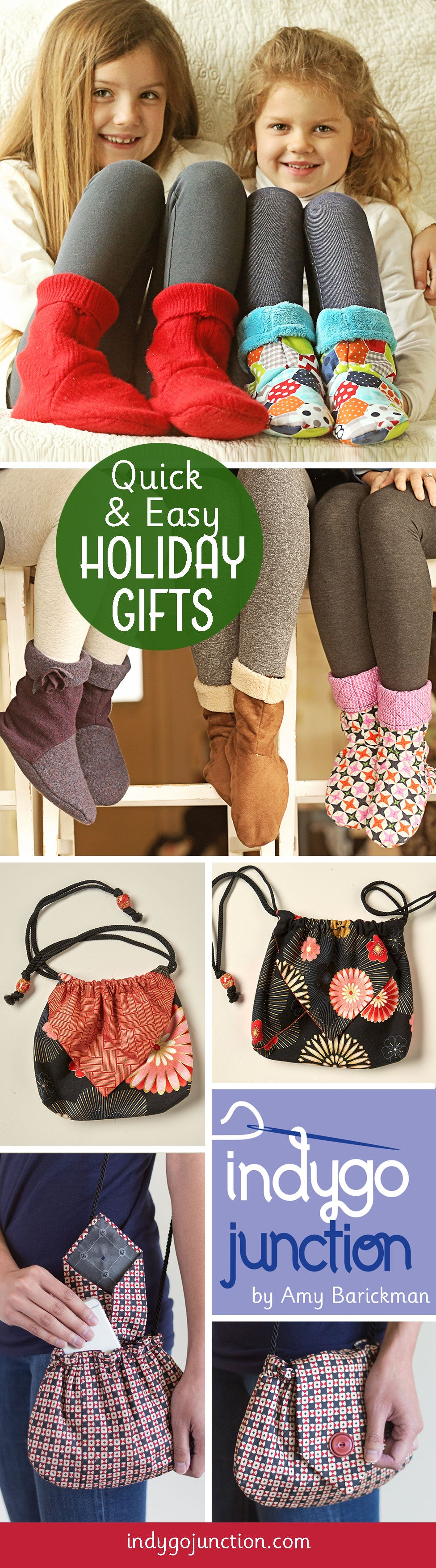 Quick and Easy gift patterns from Indygo Junction! Something for everyone on your list!