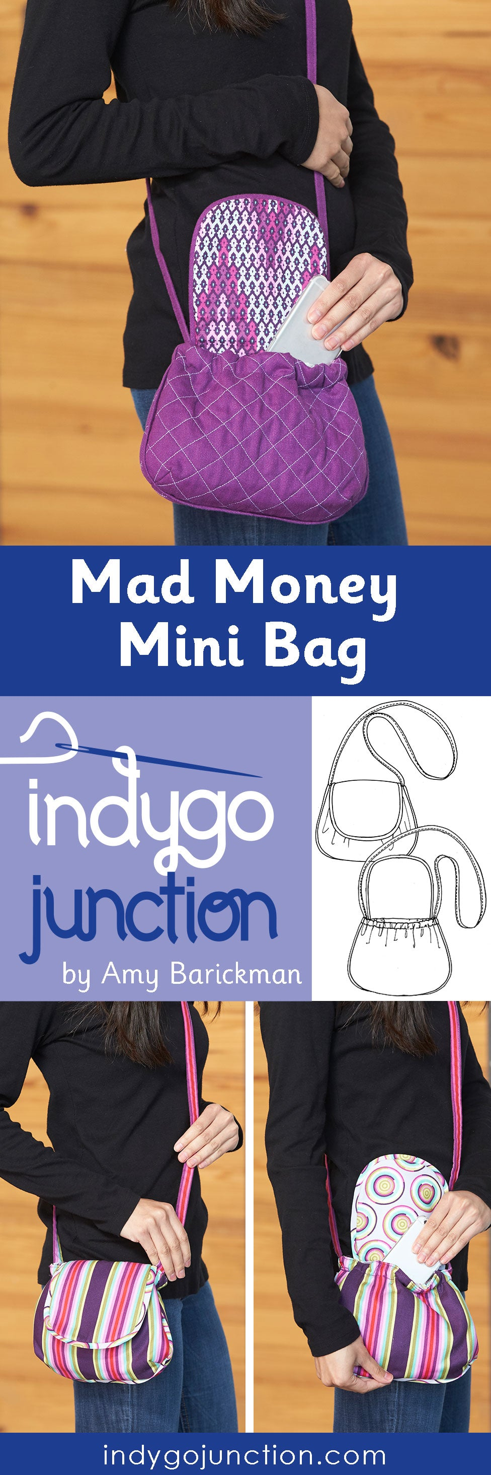 Indygo Junction's Mad Money Mini bag pattern