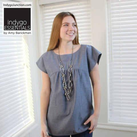 Indygo Essentials: Slight Sleeve Top & Tunic Pattern