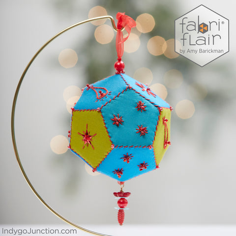 Star Hand Embroidered Brio Sphere Ornament