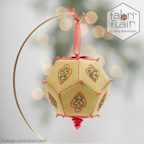 Hand Embroidered Brio Sphere Ornament