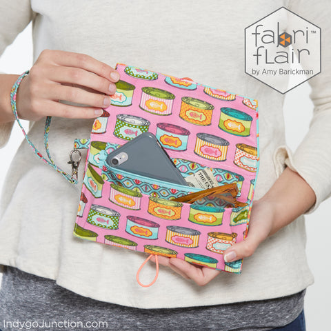Pocketbook Wristlet Fabriflair Pattern