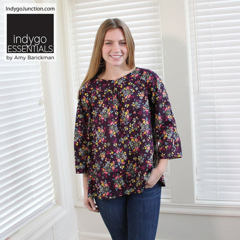 Indygo Essentials: Raglan Top Pattern
