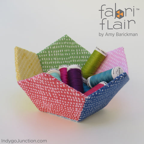 Rainbow Faceted Bowl sewing pattern