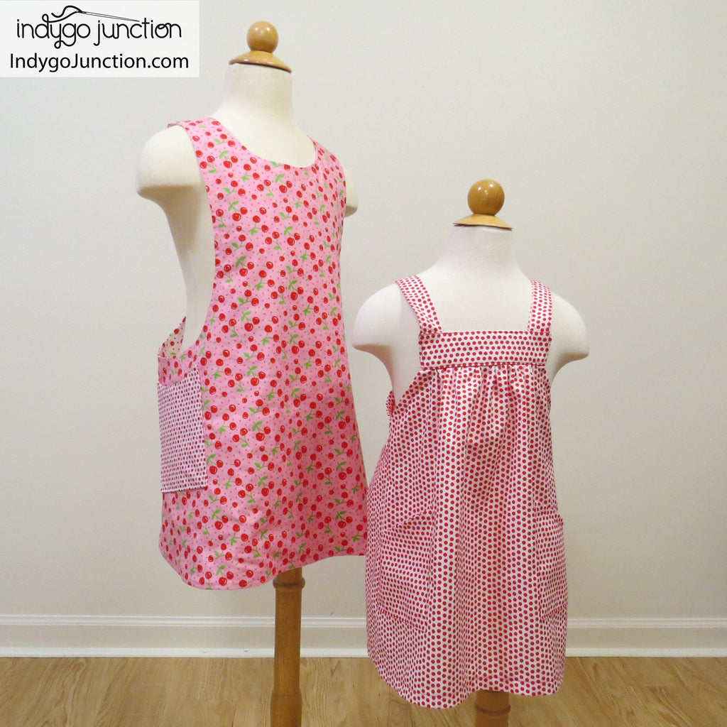 picture relating to Free Printable Apron Patterns named Crossback Reversible Apron sewing habit as a result of Indygo Junction