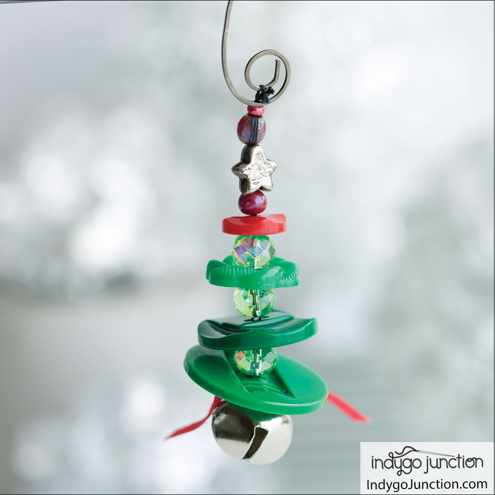 Christmas Tree Button Necklace and Ornament Digital PDF ...